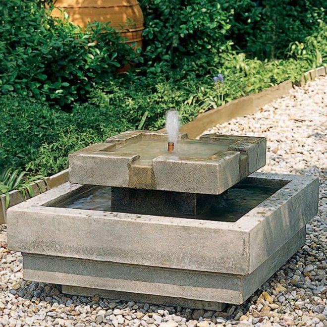 Concrete fountain diy pinterest