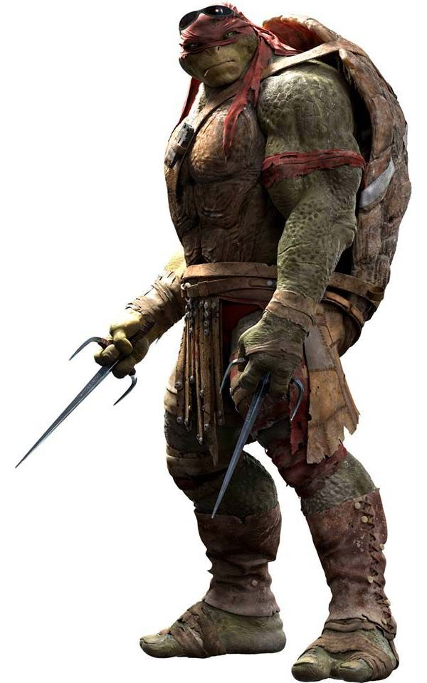 Raphael's new look from the new 2014 Teenage Mutant Ninja Turtles movie.