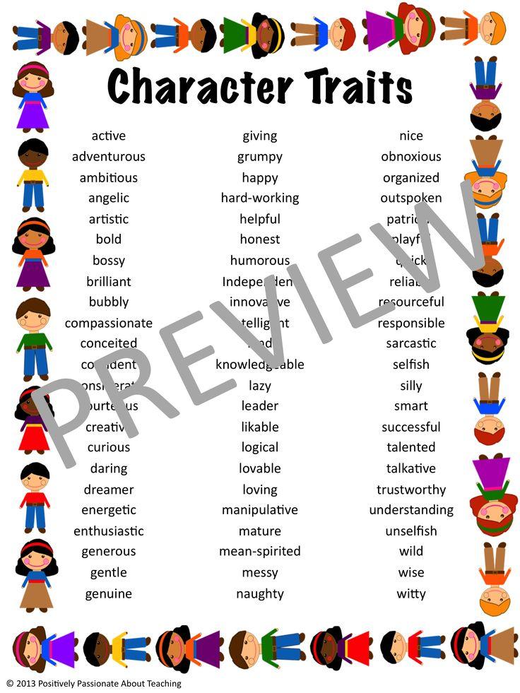 character traits negative character 350 character character character
