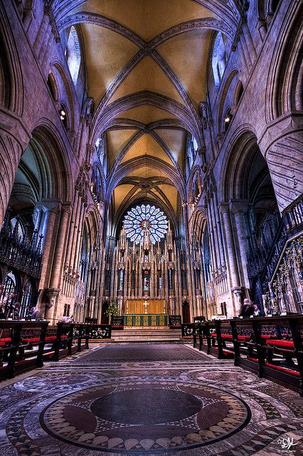 A very small section of the beautiful interior at Durham catherdral where everyone is welcome to have a look around