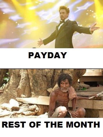This is so HILARIOUS and true. no money, no phone, no food, no gas, no life till monday. this sucks