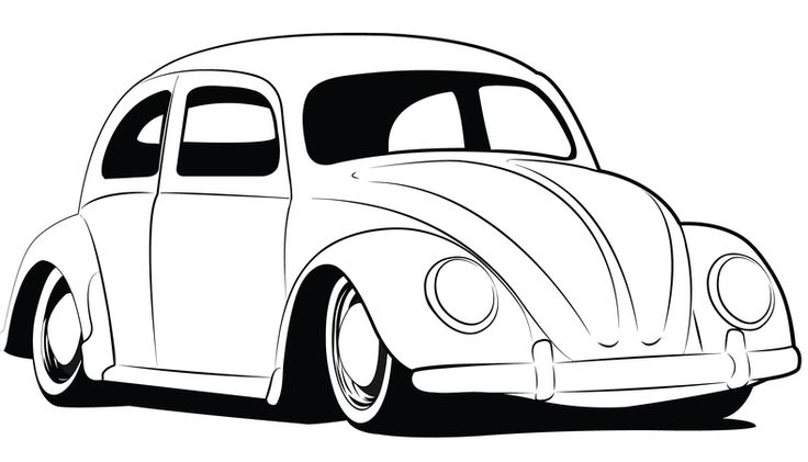 vw bug outline coloring pages of vw bugs coloring stylizr