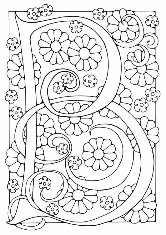coloring page letter  b  img 2.  coloring pages