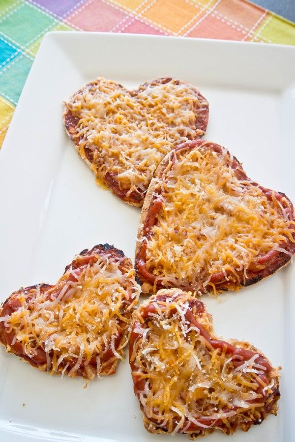 Valentine's Day Heart Shaped Pizza, inspired heart food ideas www.foodideasrecipes.com