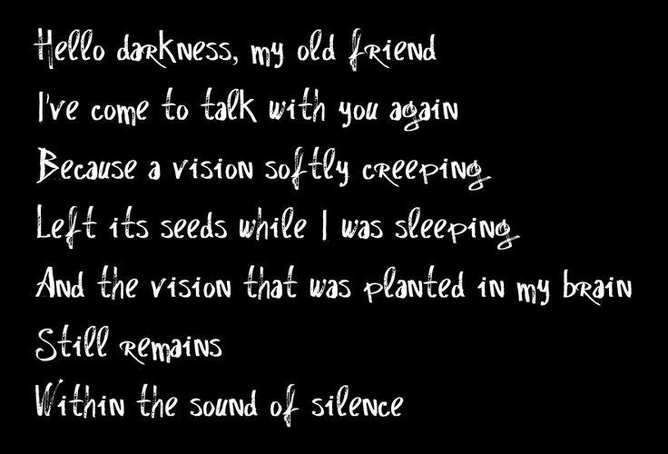 Hello darkness beautiful dark imgs pinterest