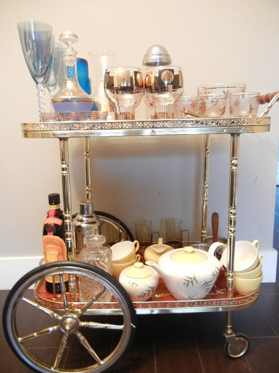 Vintage Bar Cart Sorrento Italy Roling Cart Dessert by EarthsTrove, $ ...