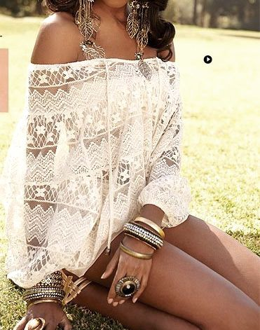 #white #lace #boho #bohemian #style #summer #dress