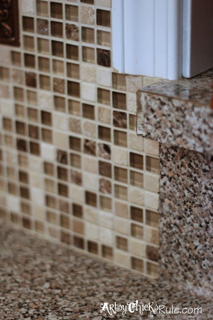 Diy tile bar top. lay full tiles on the outer edge first butting ...