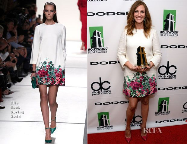 Julia Roberts In Elie Saab - 2013 Hollywood Film Awards