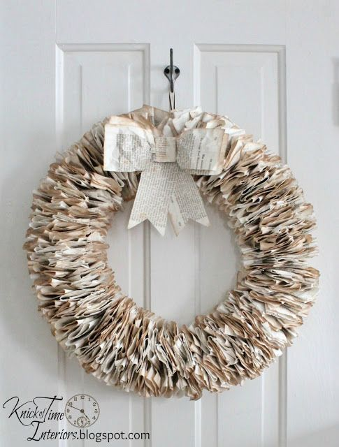 book page wreath tutorial the 3 wreath you can hang year round - Christmas Decorations To Make Yourself