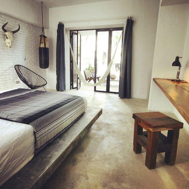 RoyaumeStyleDeco, Drift Hotel San José, Mexique, Vue chambre