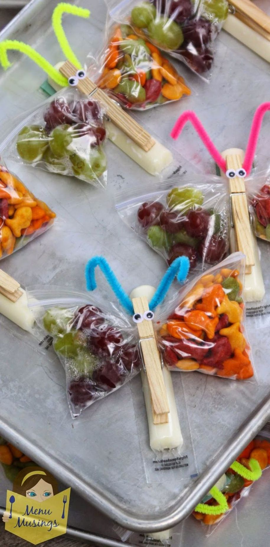 Butterfly Snack Bags di Menu Musings