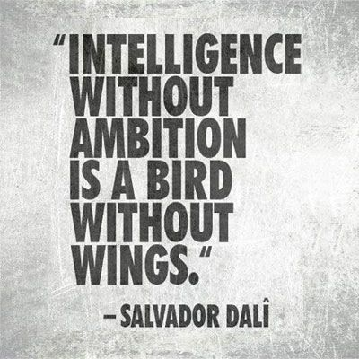 "[""Intelligence without ambition is a bird without wings."" - Salvador Dali] Write to give your ideas and insights flight. #writing #inspiration #knowledge"