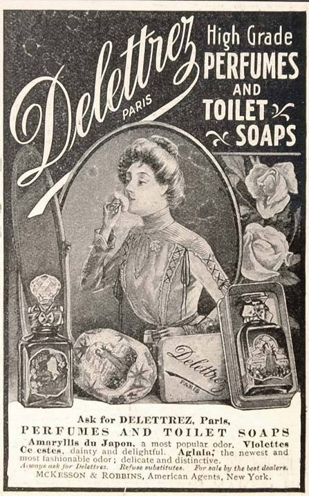 1901 Vintage Ad Delettrez Perfume Toilet Soap Paris - ORIGINAL ADVERTISING