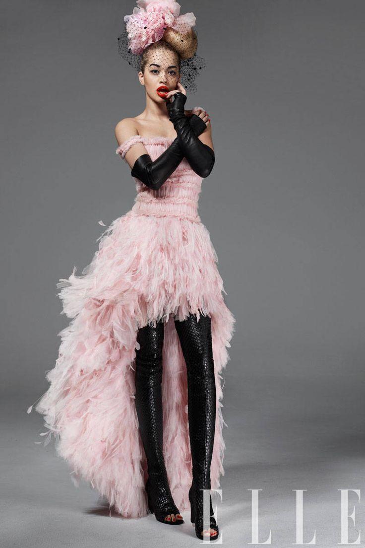 Rita Ora Style Quotes - Rita Ora Fashion Shoot Photos - Elle