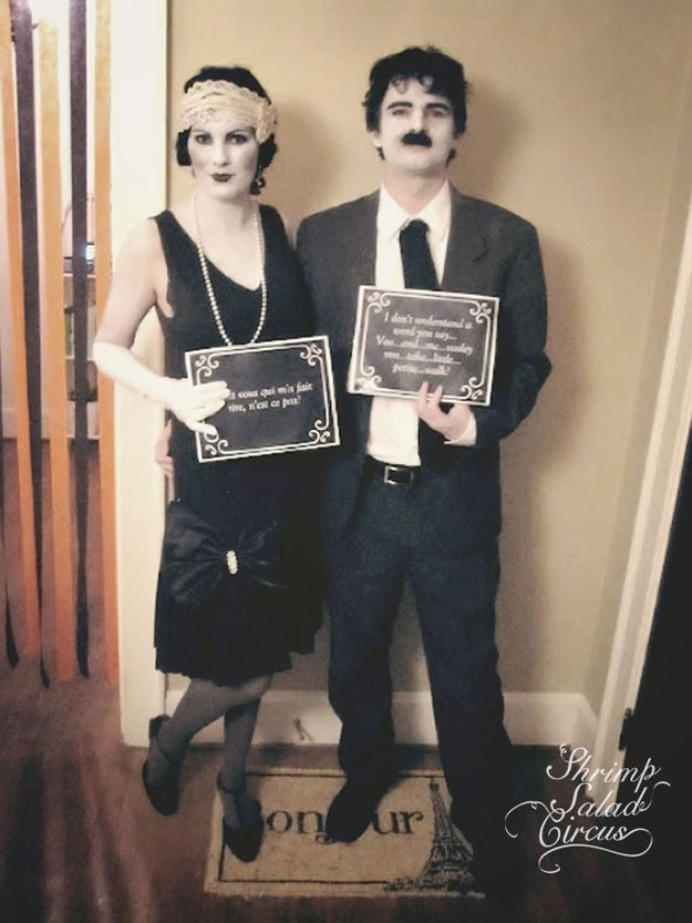 30 Unexpected Halloween Costumes You Can DIY. I just like this silent film stars idea. so cool.