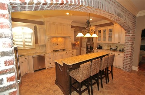 Kitchen With Brick Arch Novocom Top