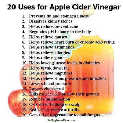 Apple Cider Vinegar Benefits | Fit Fun | Pinterest