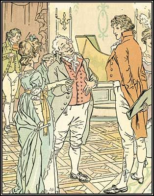 Pride and Prejudice illustration by H.M. Brock. Him and his brother C.E. Brock are famous Jane Austen illustrators.