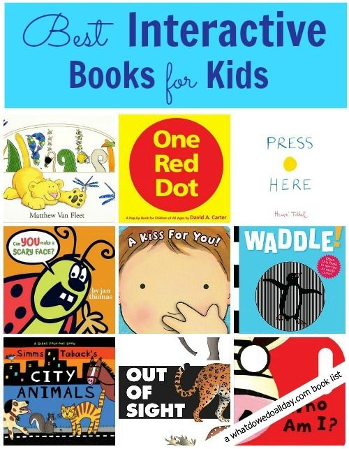 Get your kids involved in their reading with these 12 best interactive books! (via Hands on as we Grow)