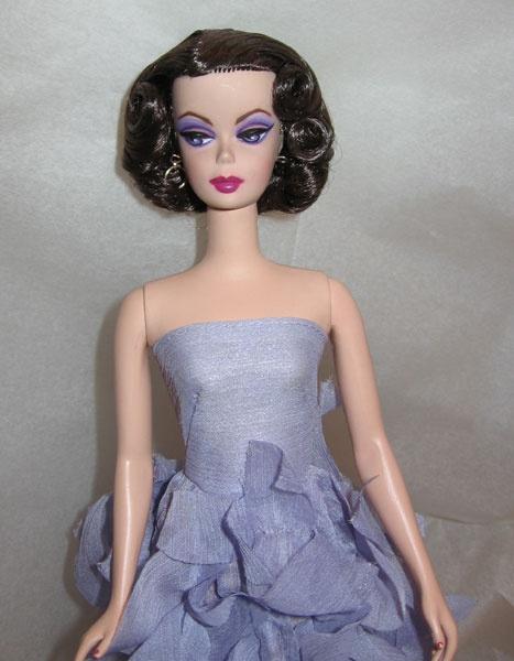 violet eyes-- Barbie silkstone Lingerie #2 Repaint
