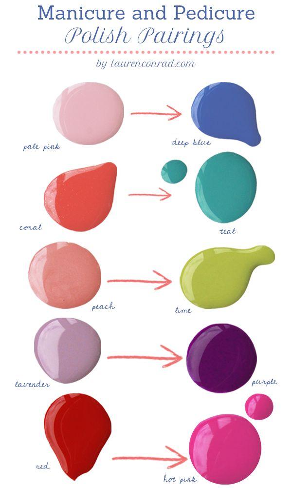 Lauren Conrad's Favorite Mani Pedi Pairings #LaurenConrad #polish #manicure