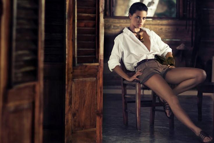 Adriana Lima - Safari style