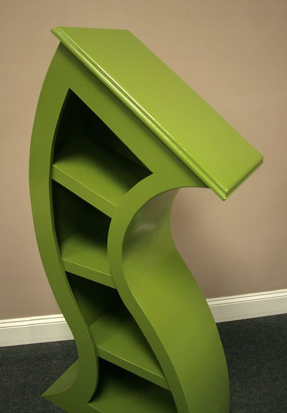 FREE SHIPPING,Handmade 4ft Curved Bookshelf, choose color below