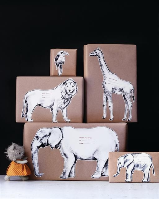 Sweet Paul's DIY Safari Animal Gift Tags - Free printables!