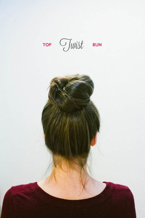 Top Twist Bun Hair Tutorial