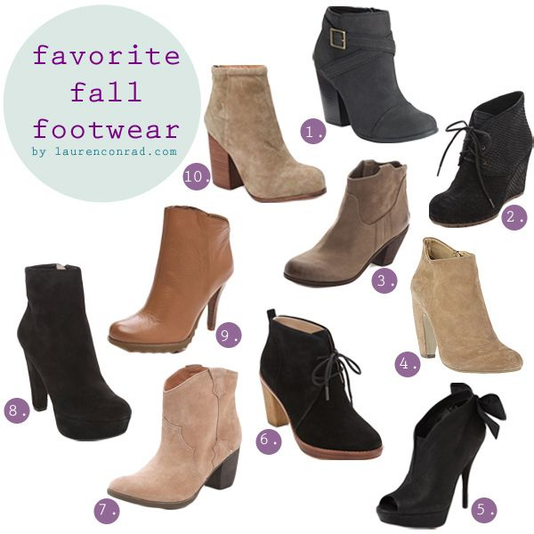 Fall Booties! I only have one pair from Victoria's Secret that are extremely uncomfortable. I need more of these!