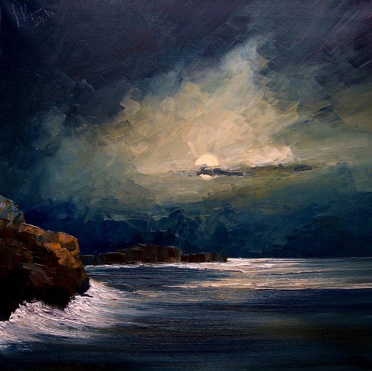 Night - Justyna Kopania oil on canvas