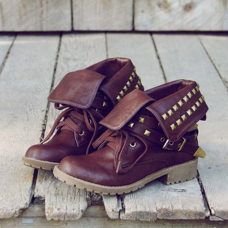 Sweet Studded Motorcycle Boots...