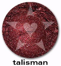 """Talisman is a deep, vivid burgundy with smoke undertones and a brilliant red luster. From Aromaleigh's metallic mineral eyeshadow collection, """"ALCHEMIE"""", based on v1's """"Elemental Lustre""""."""