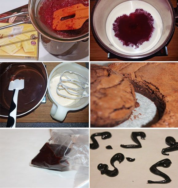 Himbeermousse Brownie Pralinen