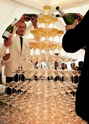Champagne fountain, yum! #nye