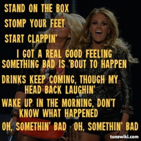 Miranda Lambert & Carrie Underwood ~ Somethin' Bad