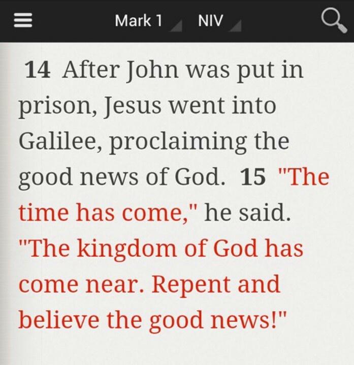 Mark 1:14-15