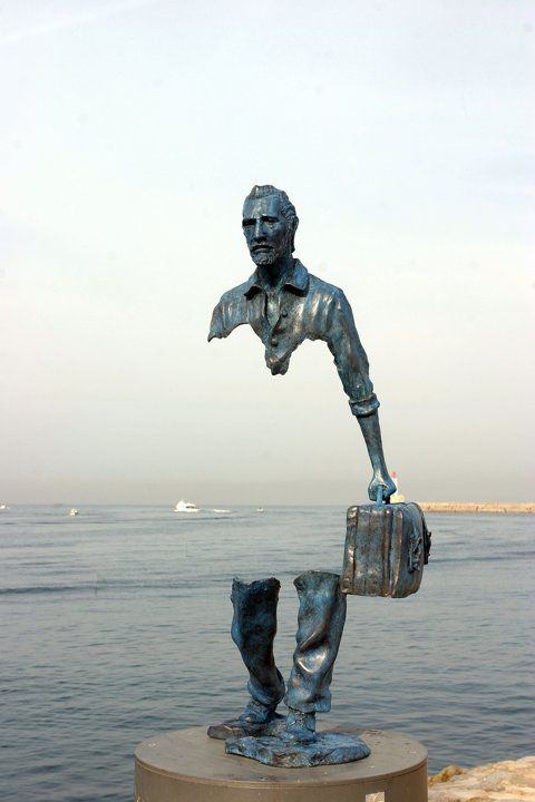 """""""Le Grand Van Gogh"""" ~ by French sculptor Bruno Catalano at the waterfront in Marseille, France"""