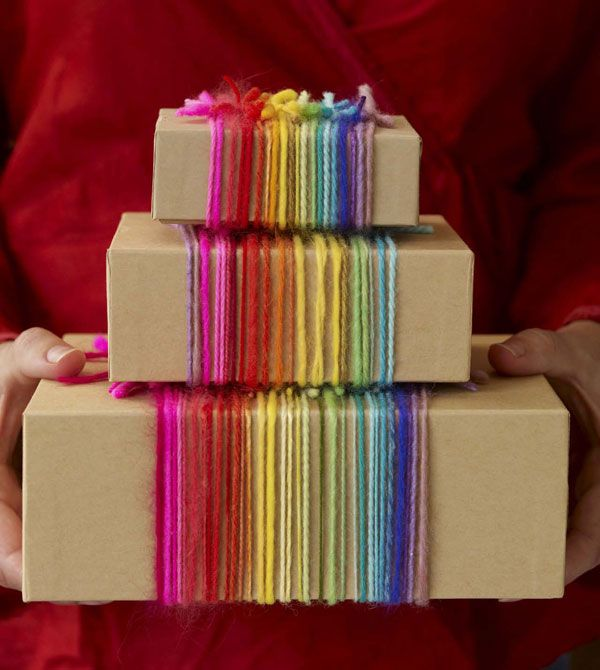 Yarn Gift Wrap - SIMPLE!