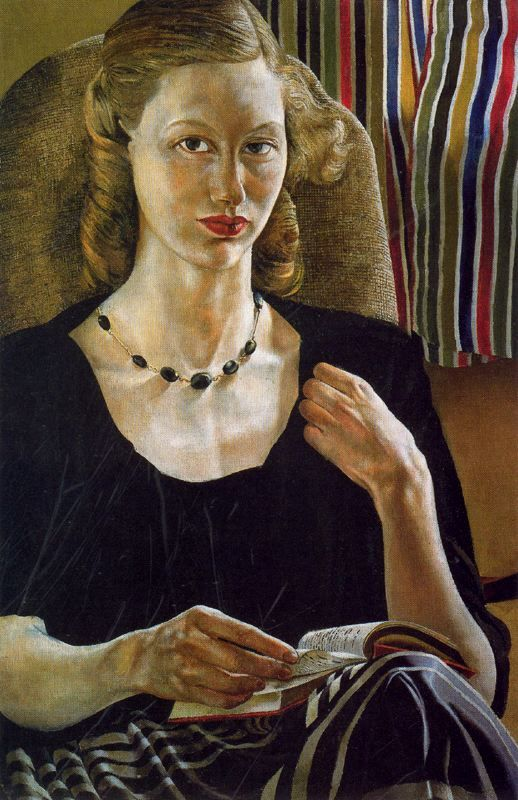 Portrait of Daphne (1951). Sir Stanley Spencer (English, 1891-1959). Much of Spencer's work depicts Biblical scenes happening not in the Holy Land but in Cookham where he was born and lived. Fellow-villagers frequently stand in for their Gospel counterparts, lending Christian teachings an eerie immediacy. Spencer has been described as an early modernist painter. His quirky romantic and sexual works originally provoked great shock and controversy. Now, they seem stylistic and experimental.