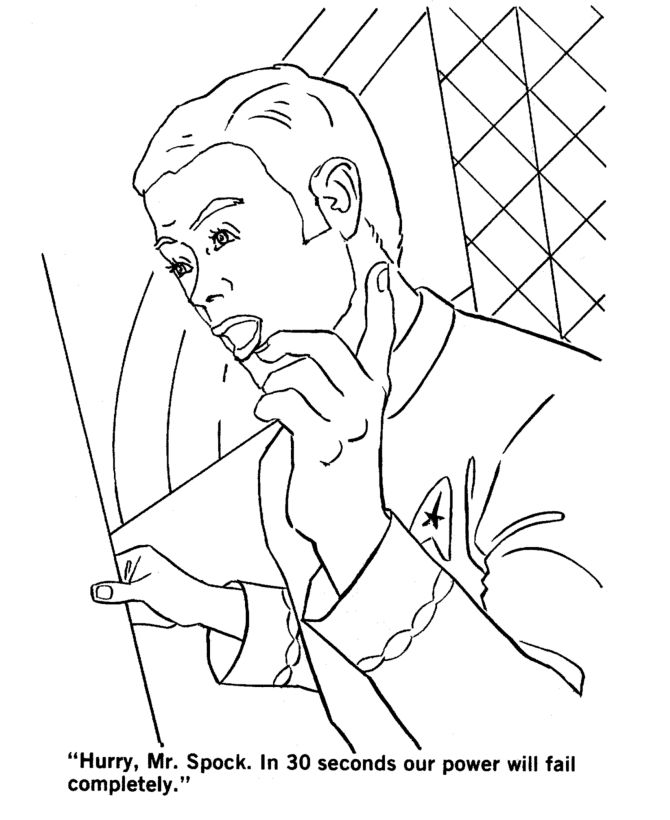 star trek coloring page coloring book pinterest