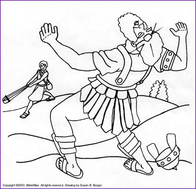 david and goliath coloring pages print version of david and goliath
