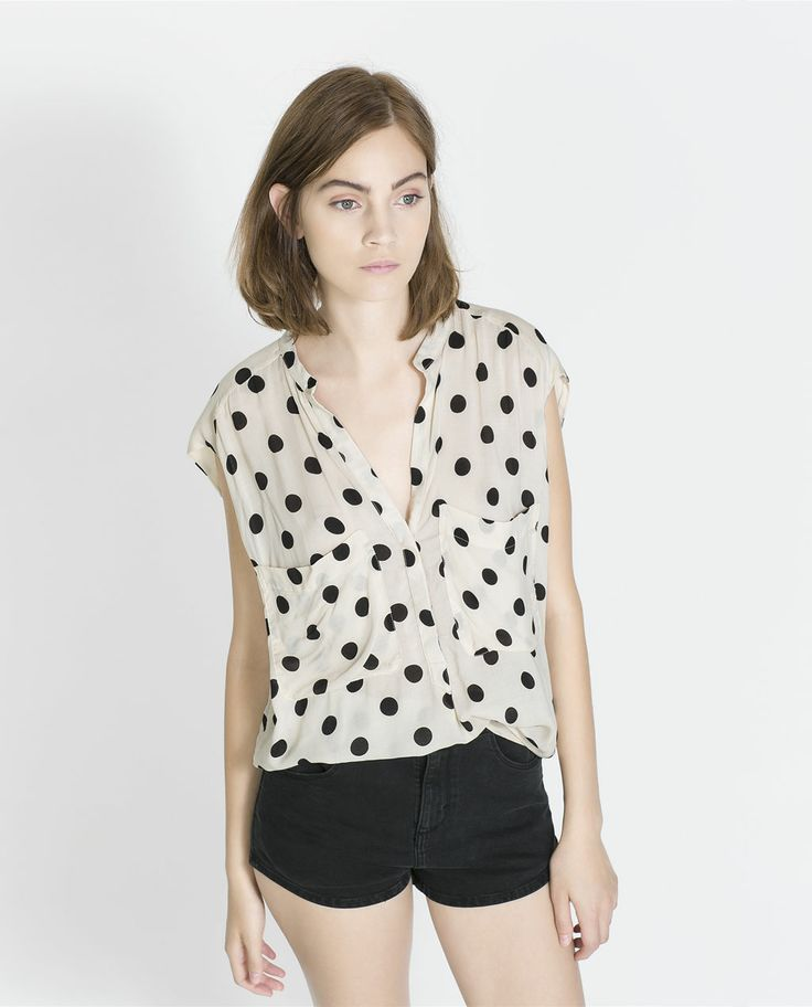 POLKA DOT SHIRT from Zara