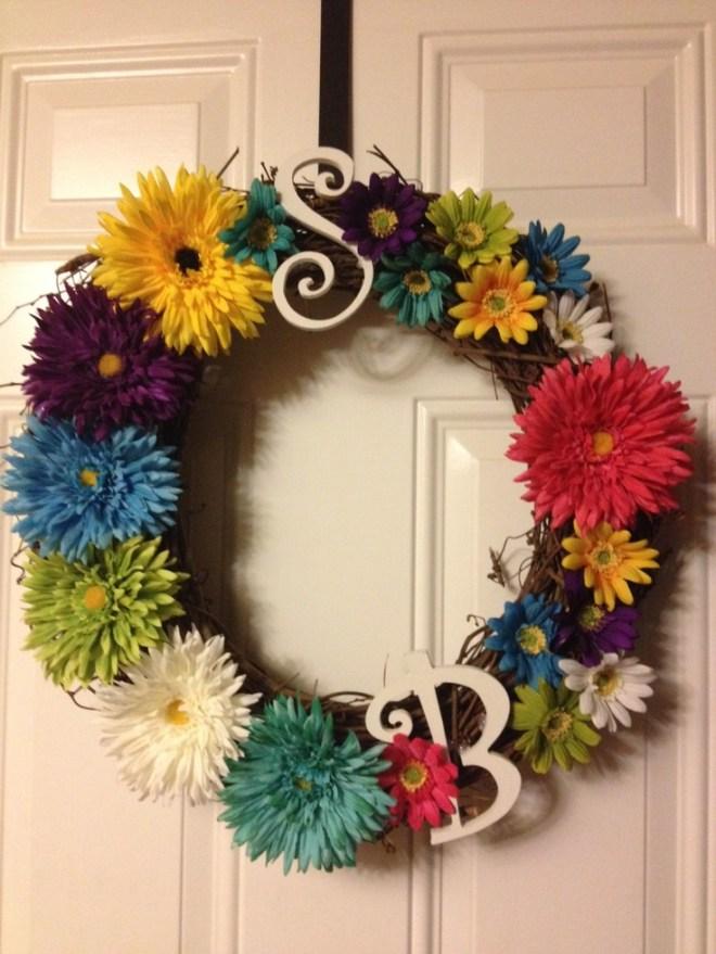 Diy summer wreath shes crafty pinterest
