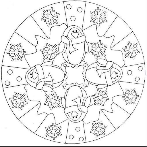 winter coloring pages mandala cooloring com