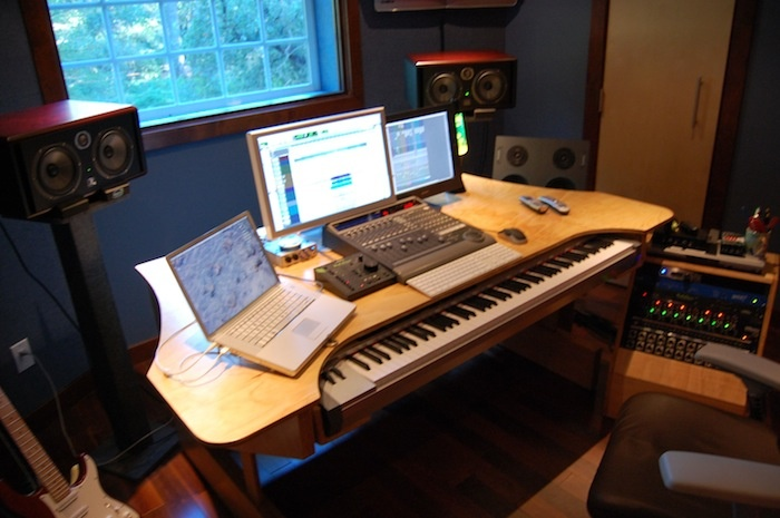 DAW Desk Project Studio Pinterest