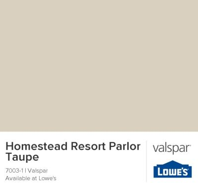 Homestead Resort Parlor Taupe by Valspar {neutral paint colors}