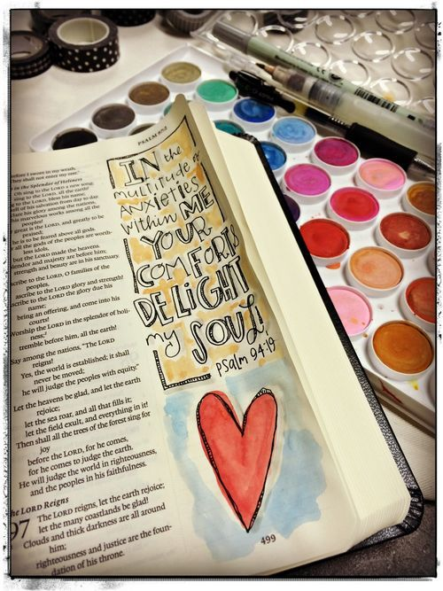 journaling Bible page by Stephanie Ackerman