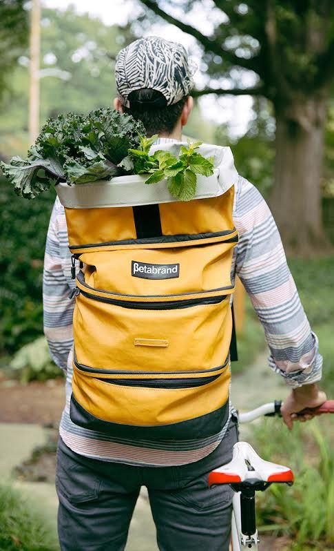 Grocery backpack! With compartments to divide things, so easy to carry. Brilliant! Love! #product_design